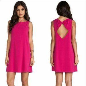 Alice & Olivia Trina Bow Back Pink Silk Dress